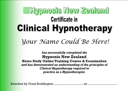 HNZ Certificate in Clinical Hypnotherapy